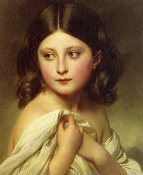 Franz-Xavier-Winterhalter---A-Young-Girl-Called-Princess-Charlotte