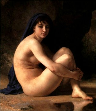 Nude Woman of Painting with lovely skin